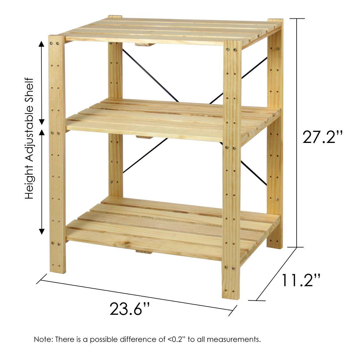 39 Amazon Com Furinno Fncj 33013 Pine Solid Wood 3 Tier Shelf Bookcases Bookshelves Diy