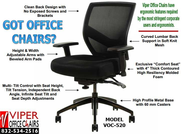 Mesh Office Chair The VOC 520 Mesh Office Chair Takes Comfort To A Whole  New Level At Rock Bottom Prices. Keeping Workers Comfortable While They  Work Has A ...