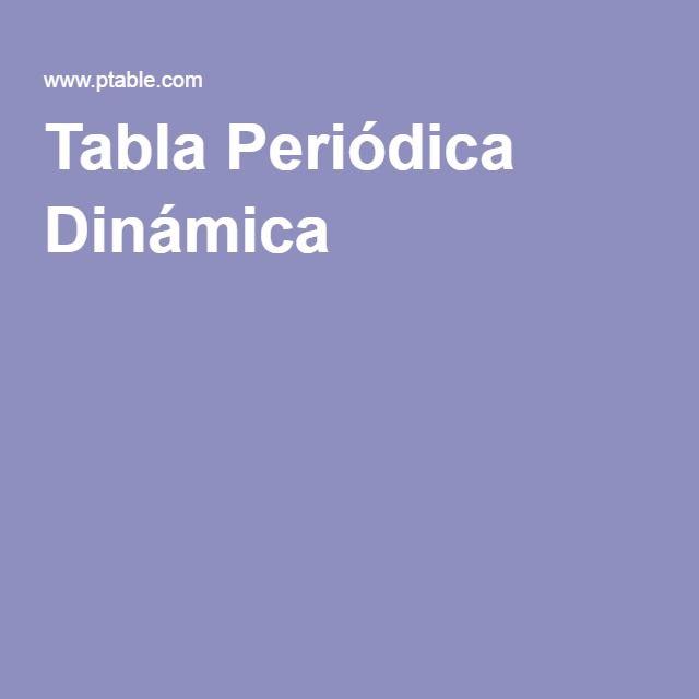 Tabla Periódica Dinámica Tabla Periódica Pinterest Tabla y Tareas - new tabla periodica en juego didactico