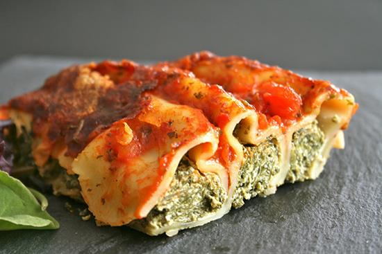 Cannelloni ricotta et pinards met italien et pate alimentaire pinterest cannelloni - Cuisine italienne cannelloni ...