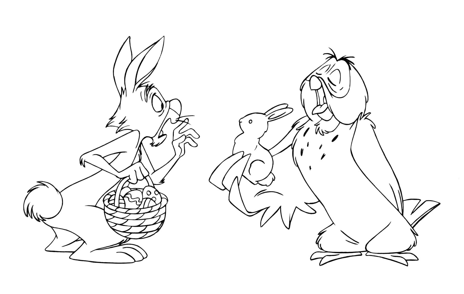 Chocolate Easter Rabbit Coloring Winnie The Pooh | Pooh and Friends ...