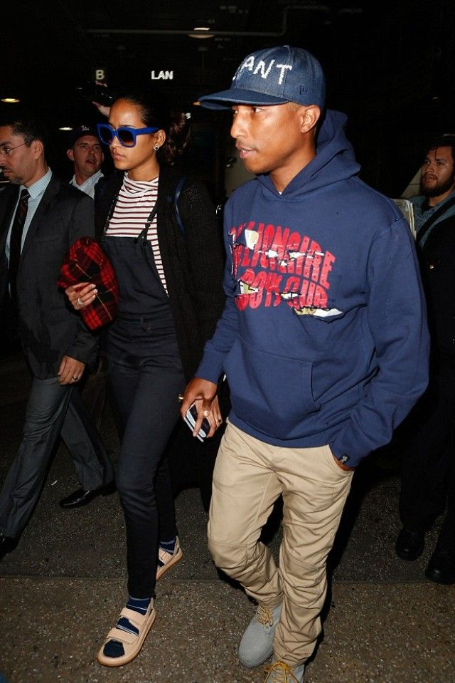 8411346b40e43 Pharrell Williams - Arriving at LAX after Paris Fashion Week with ...