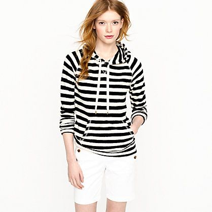 J.CREW Stripe popover hoodie (Summer!)