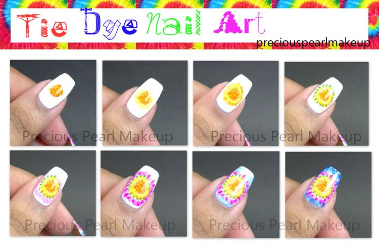 Paint that nail tyedye Nails t Tye dye