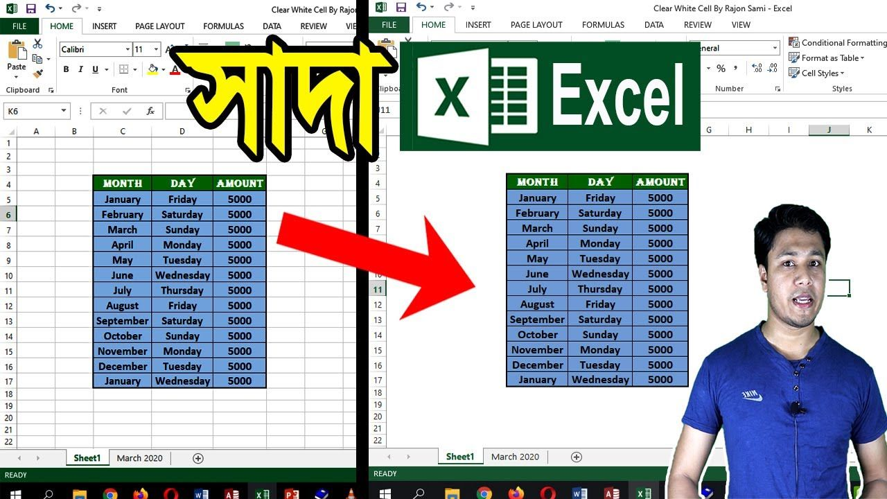 Excel Gridlines Remove How To Make Excel Sheet White Ms Excel Gridli Excel Excel Shortcuts How To Remove