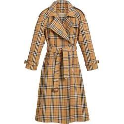 Burberry Karierter Trenchcoat Braun Burberry In 2020 Burberry Coat Burberry Trenchcoat Und Mantel Frauen