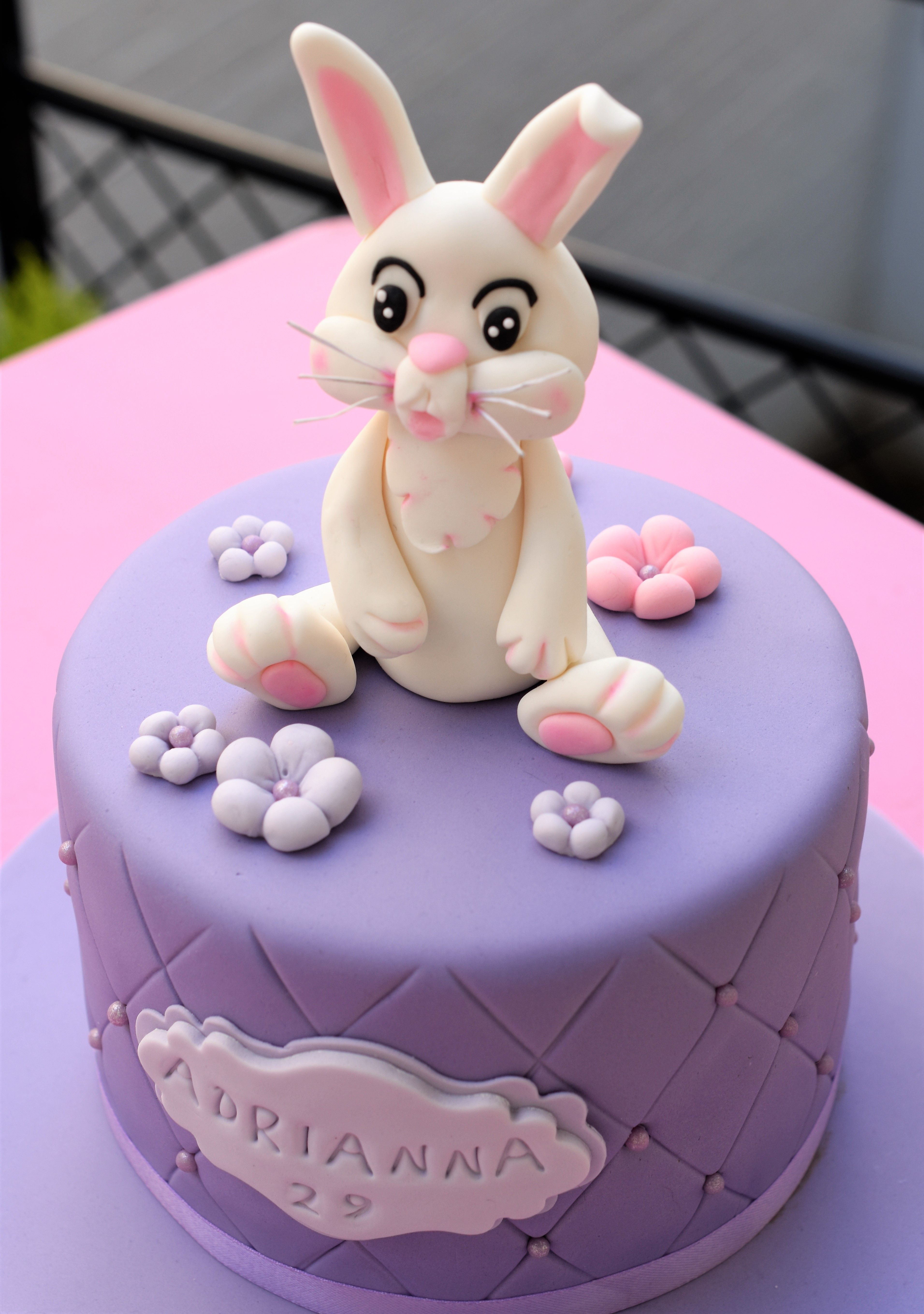 Brilliant Bunny Birthday Cake From Patricia Creative Cakes Brussels Birthday Cards Printable Riciscafe Filternl