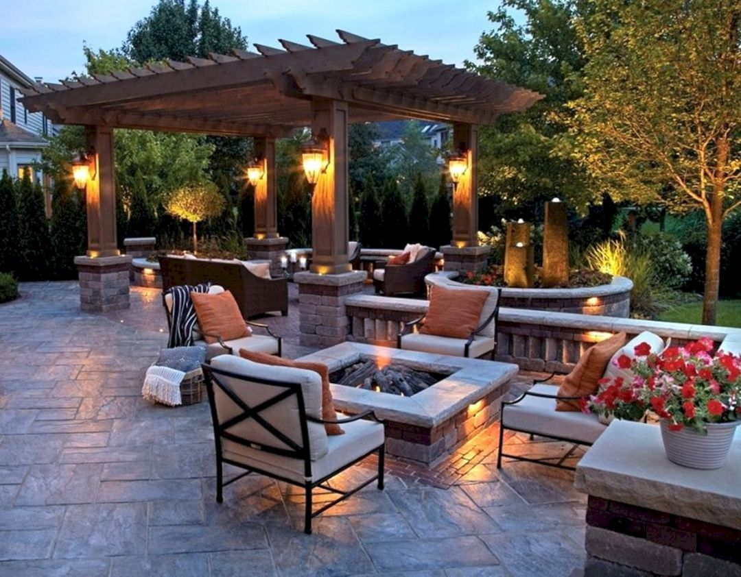 22 most popular diy backyard design with fire pit ideas on modern deck patio ideas for backyard design and decoration ideas id=62862