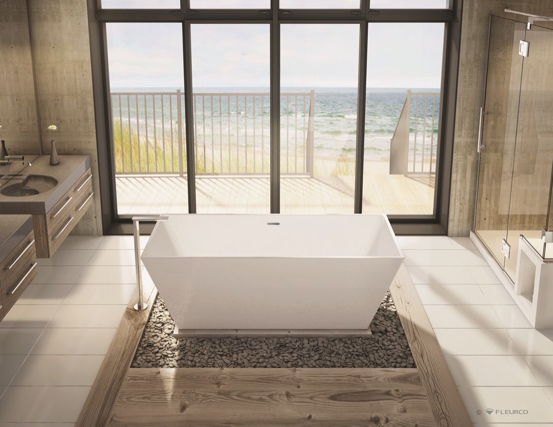 This Is A Stand Alone Bathtub From Fleurco