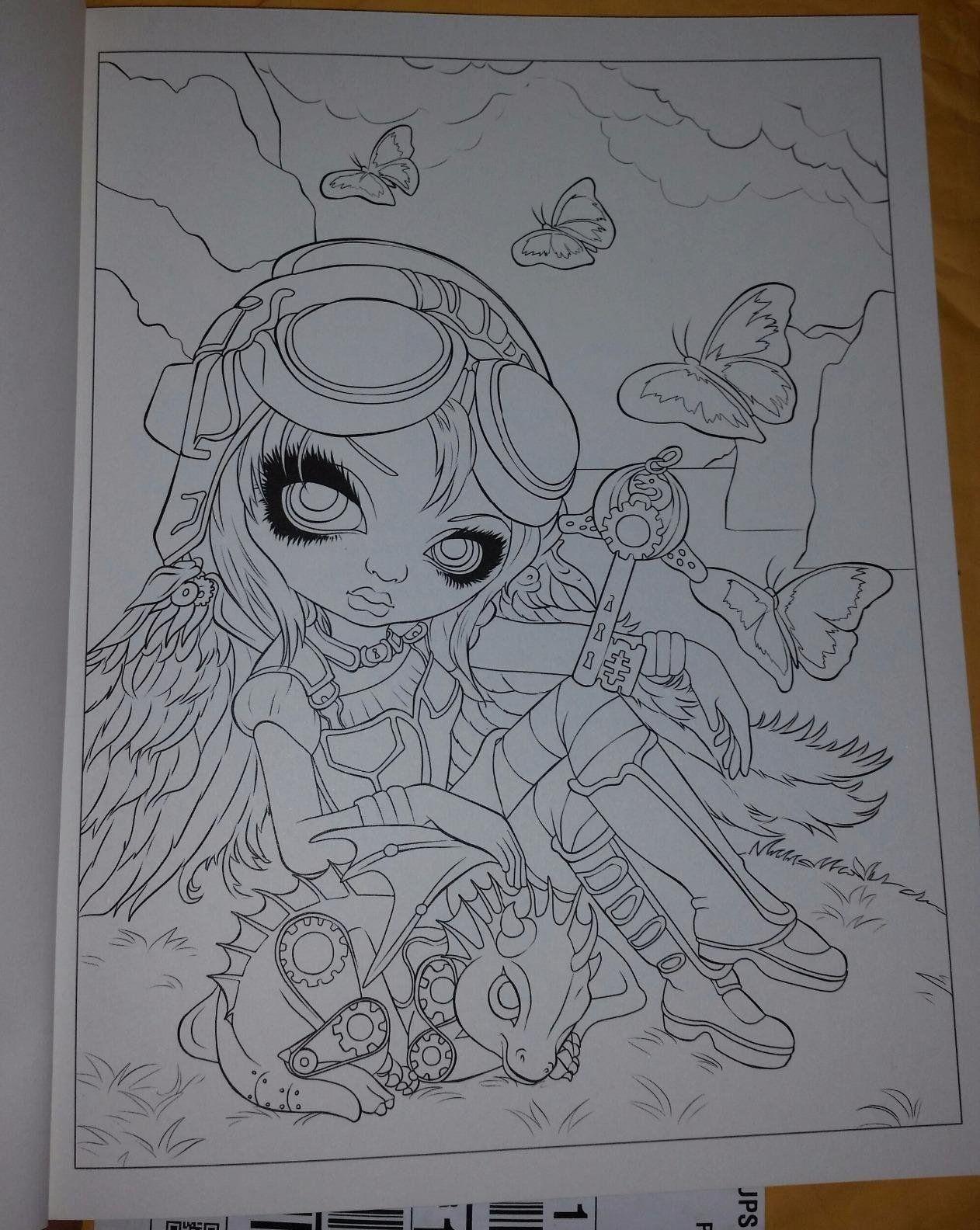 Amazon Com Jasmine Becket Griffith Coloring Book A Fantasy Art Adventure 9780738750019 Jasmin Mandala Coloring Books Coloring Books Cartoon Coloring Pages