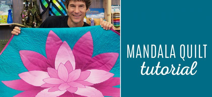Mandala Quilt Tutorial from Man Sewing!