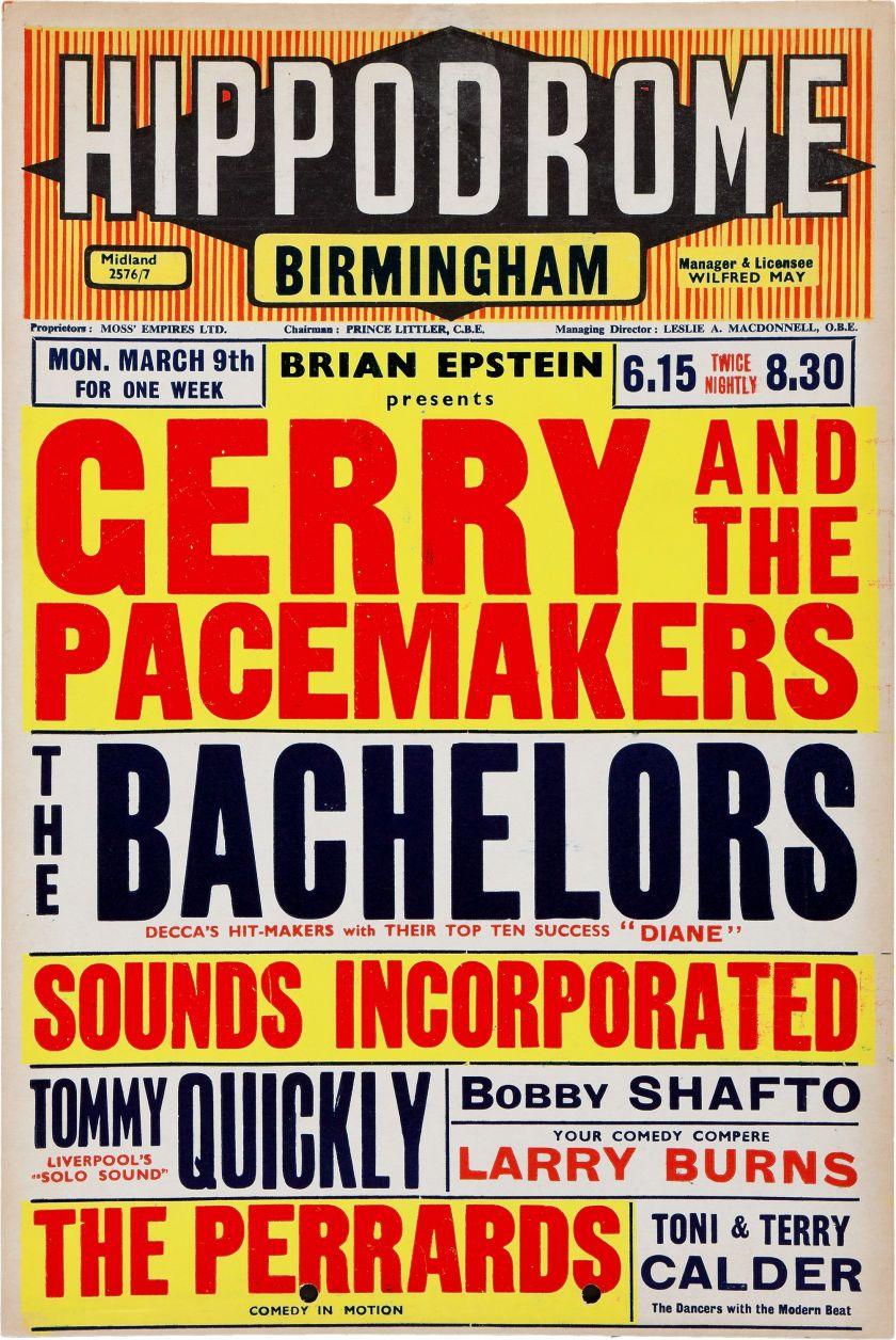 BEATLES Poster Leeds Vintage Antique Concert Rock n Roll Pop Music Liverpool UK