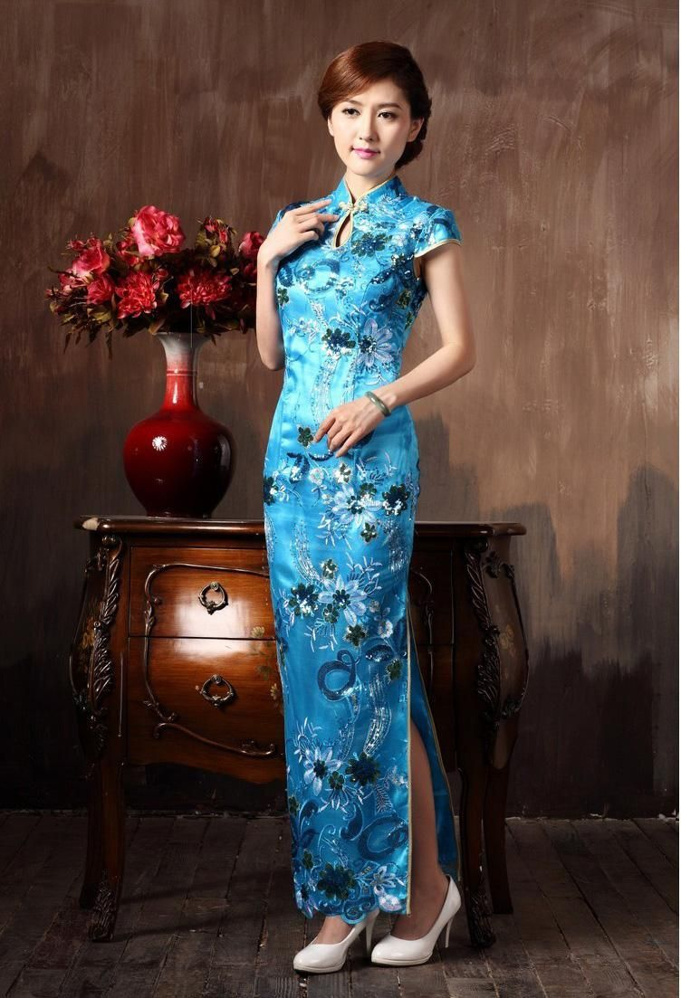 chinese-restro-cheongsam-long-lace-flowers.jpg (752×1103 ...