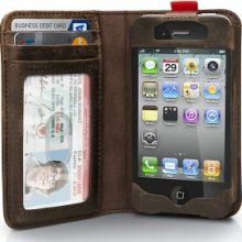 The convergence of the iPhone and your wallet, all in what looks like a beautiful old book.
