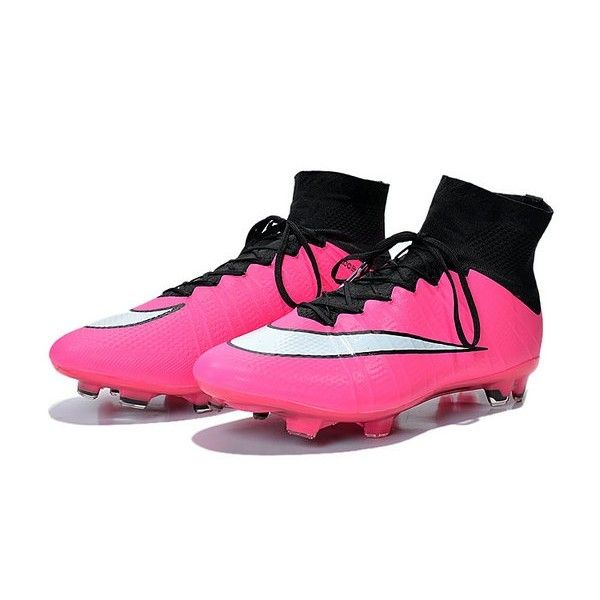 Nike Men\u0027s Mercurial Superfly FG Soccer Cleats - Black Pink White