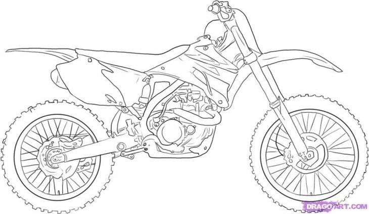 Free Dirt Bike Coloring Page Bike Drawing Motorcycle Drawing