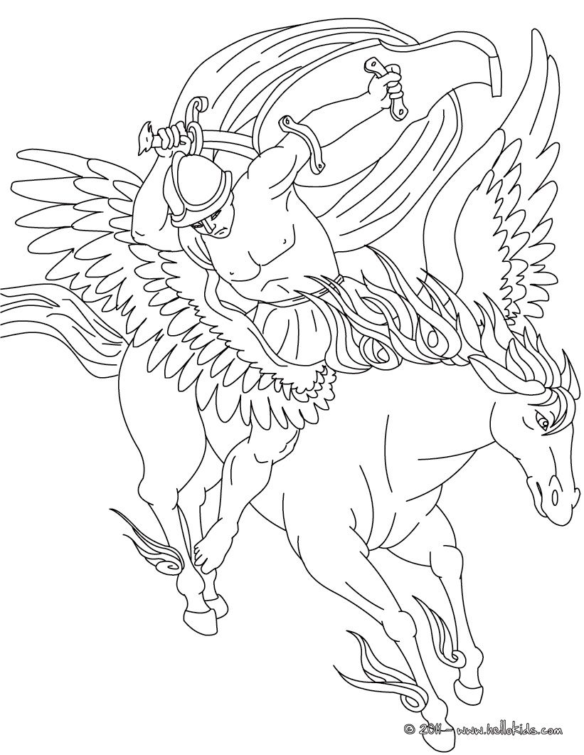 Coloring pages.. these are nicely done. | Greek Mythology ...