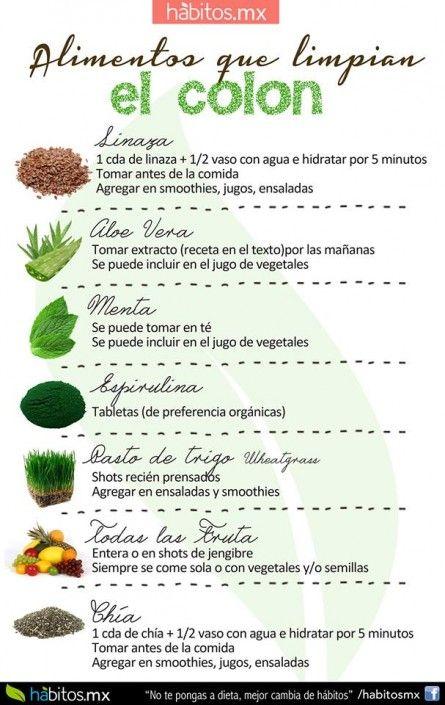 dieta limpieza de colon natural