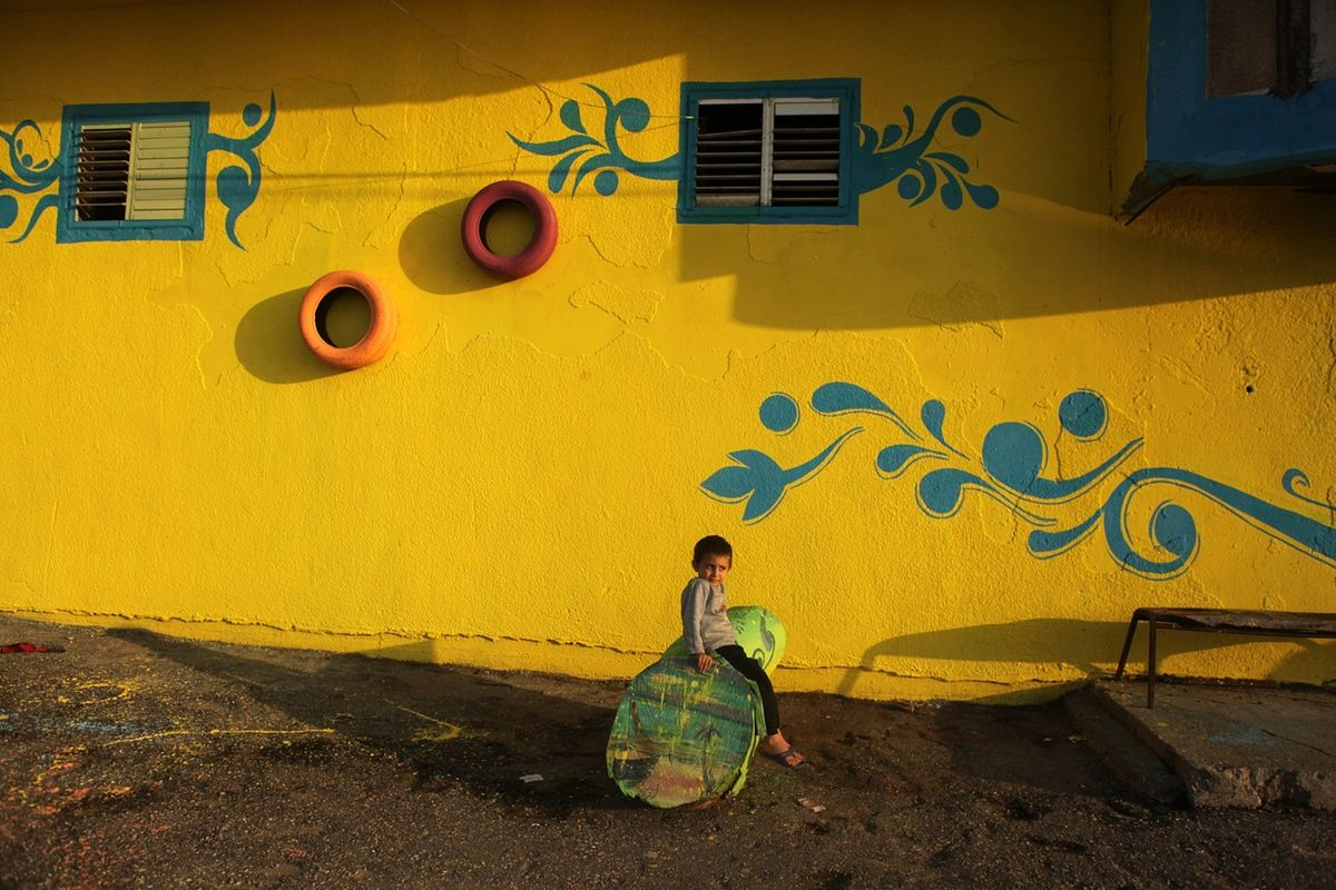 Gaza refugee camp art project – in pictures | Artist and Middle ...