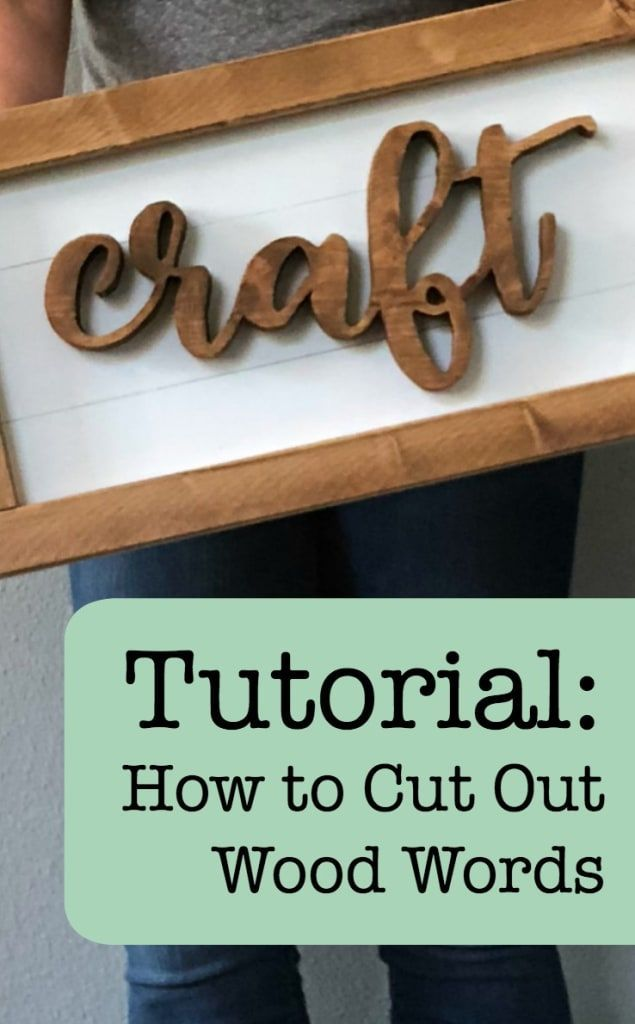 Photo of Tutorial: How to Cut Out Wood Words & Shapes Using a Scroll Saw and your Silhoue…