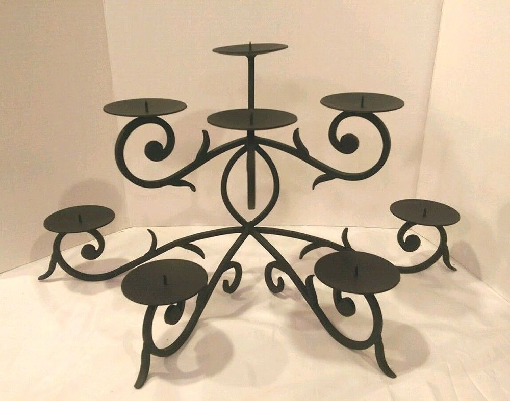 POTTERY BARN Gypsy FIREPLACE CANDLE HOLDER Candelabra SOLD OUT Wrought Iron #PotteryBarn