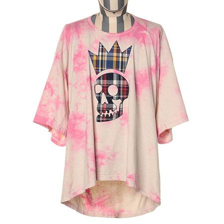 チェックコミカルスカル ビッグTシャツ 19,440円