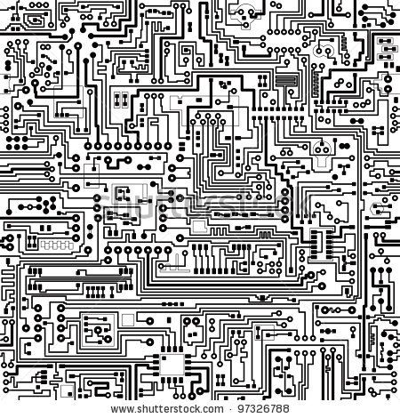 Computer circuit board pattern - vector seamless texture by pzAxe ...
