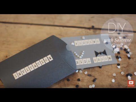 DIY: Wedding invitation by Søstrene Grene - YouTube