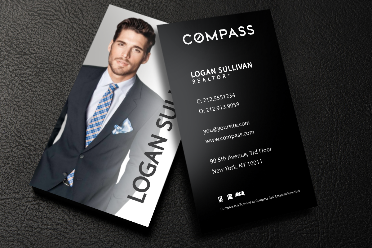 New Business Cards For Compass Realtors Realtor Compass Realestate Realtors Realt Real Estate Business Cards Realtor Business Cards Luxury Business Cards