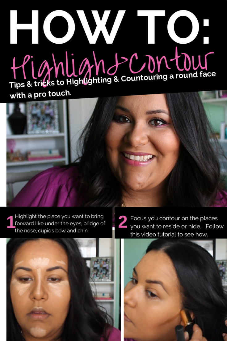 A Step By Step Video Tutorial On How To Highlight & Contour A Round Or Plus