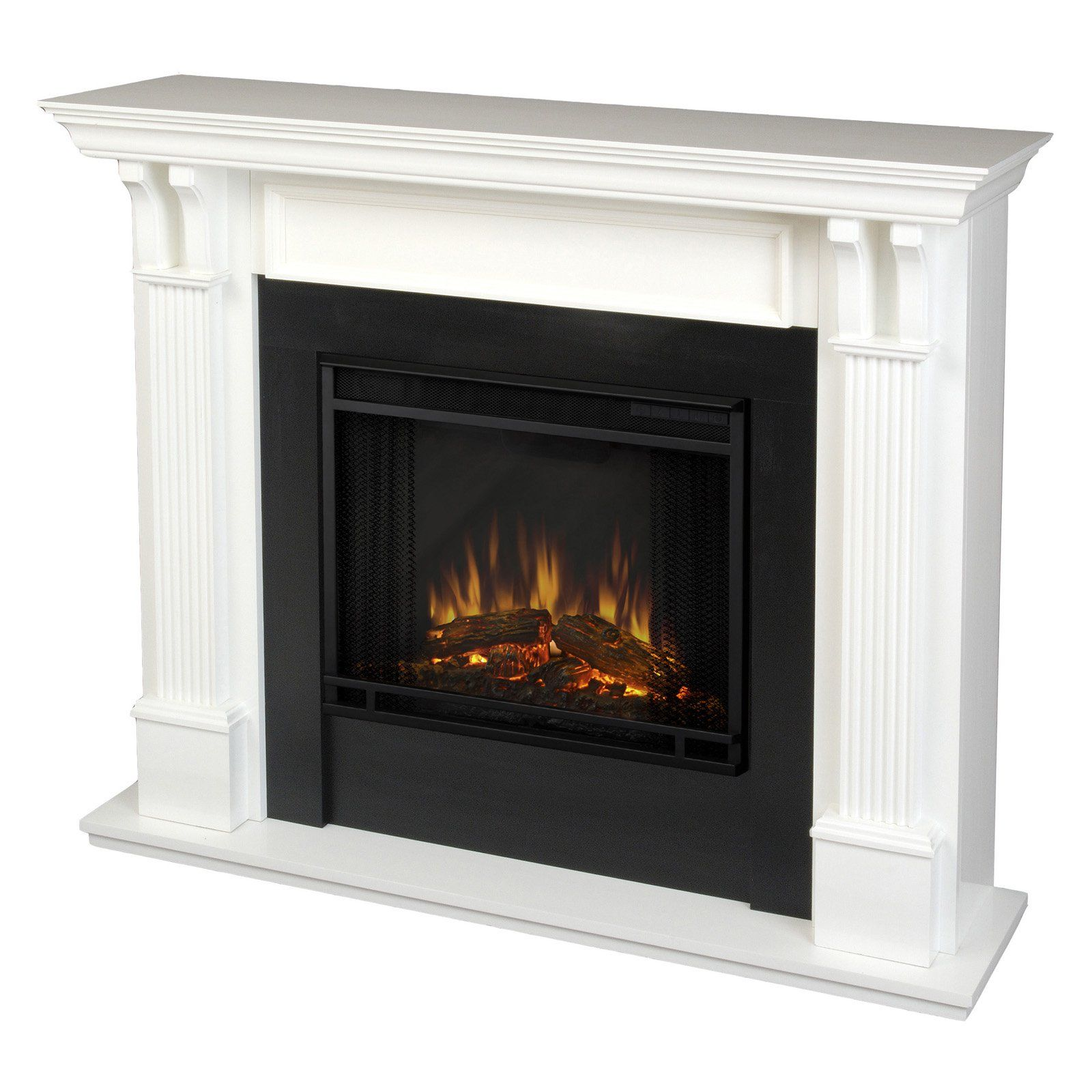 Real Flame Ashley Indoor Electric Fireplace White White