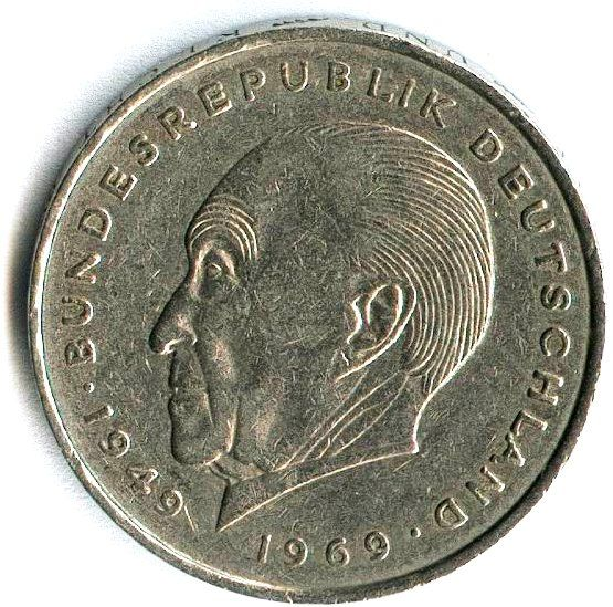 Muenze 2dm adenauer.jpg Extra geld verdienen, Deutsche mark