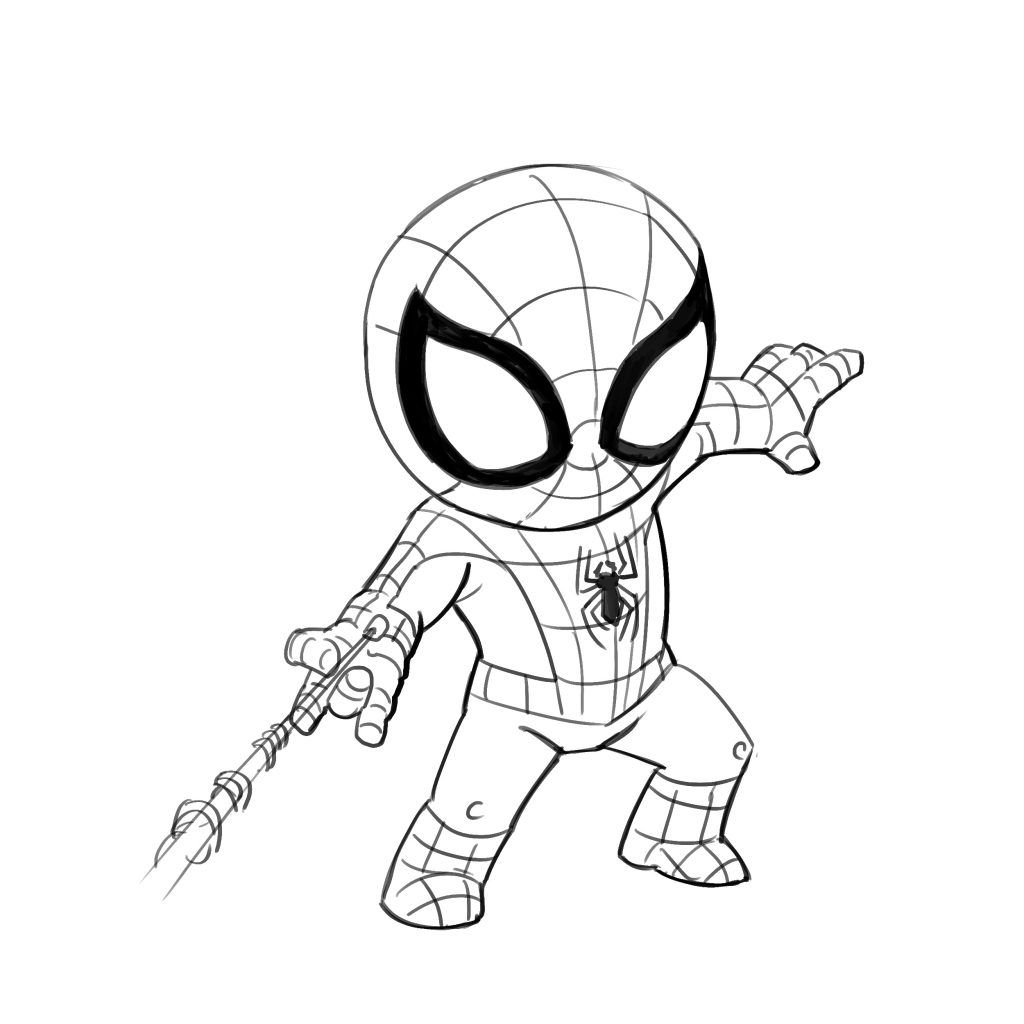 11++ Cute chibi spiderman coloring pages inspirations