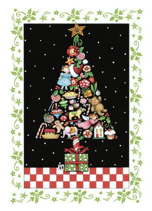 holiday treats tree mary engelbreit christmas card art