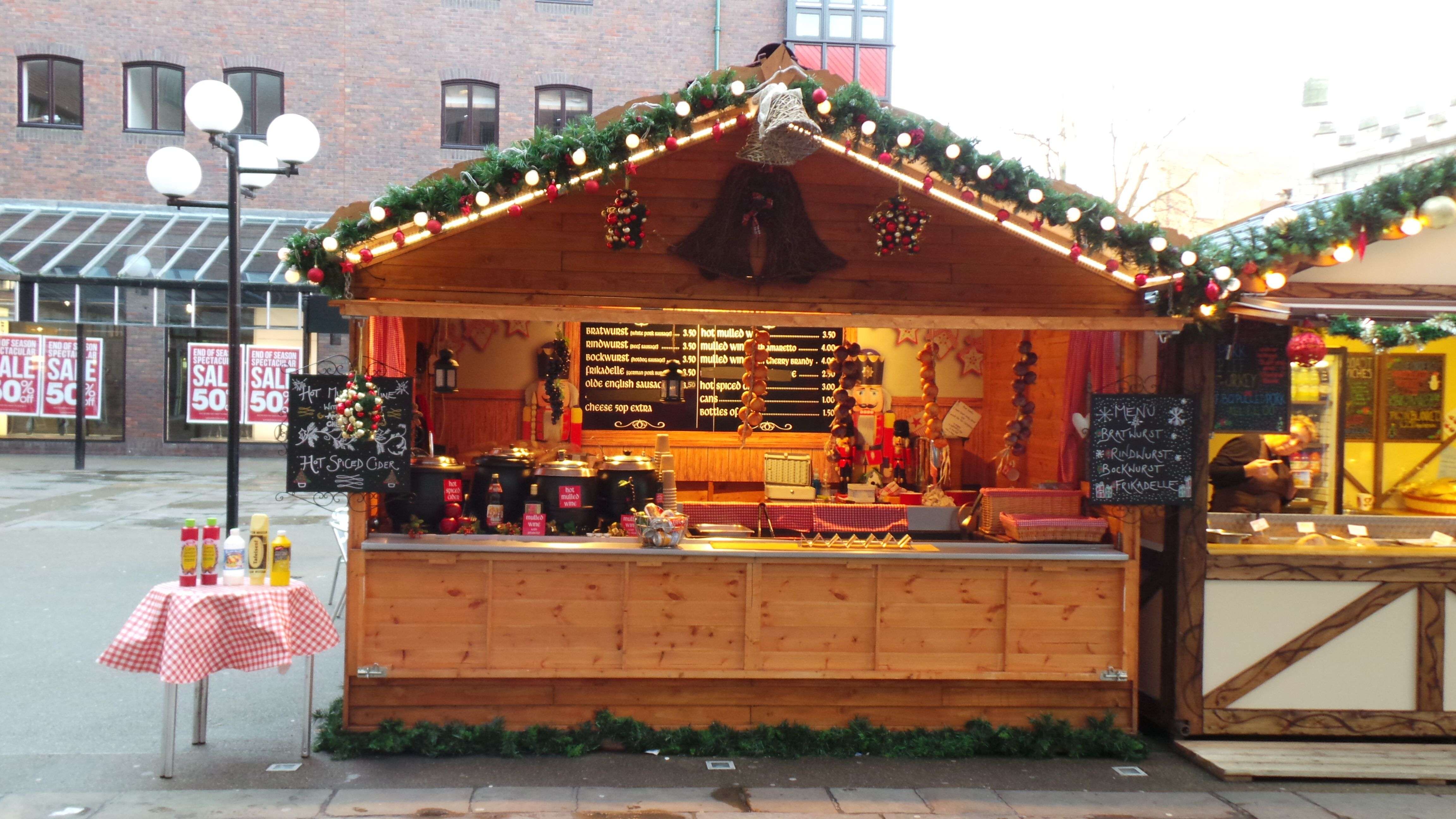 Christmas market huts Available to buy/hire for your event