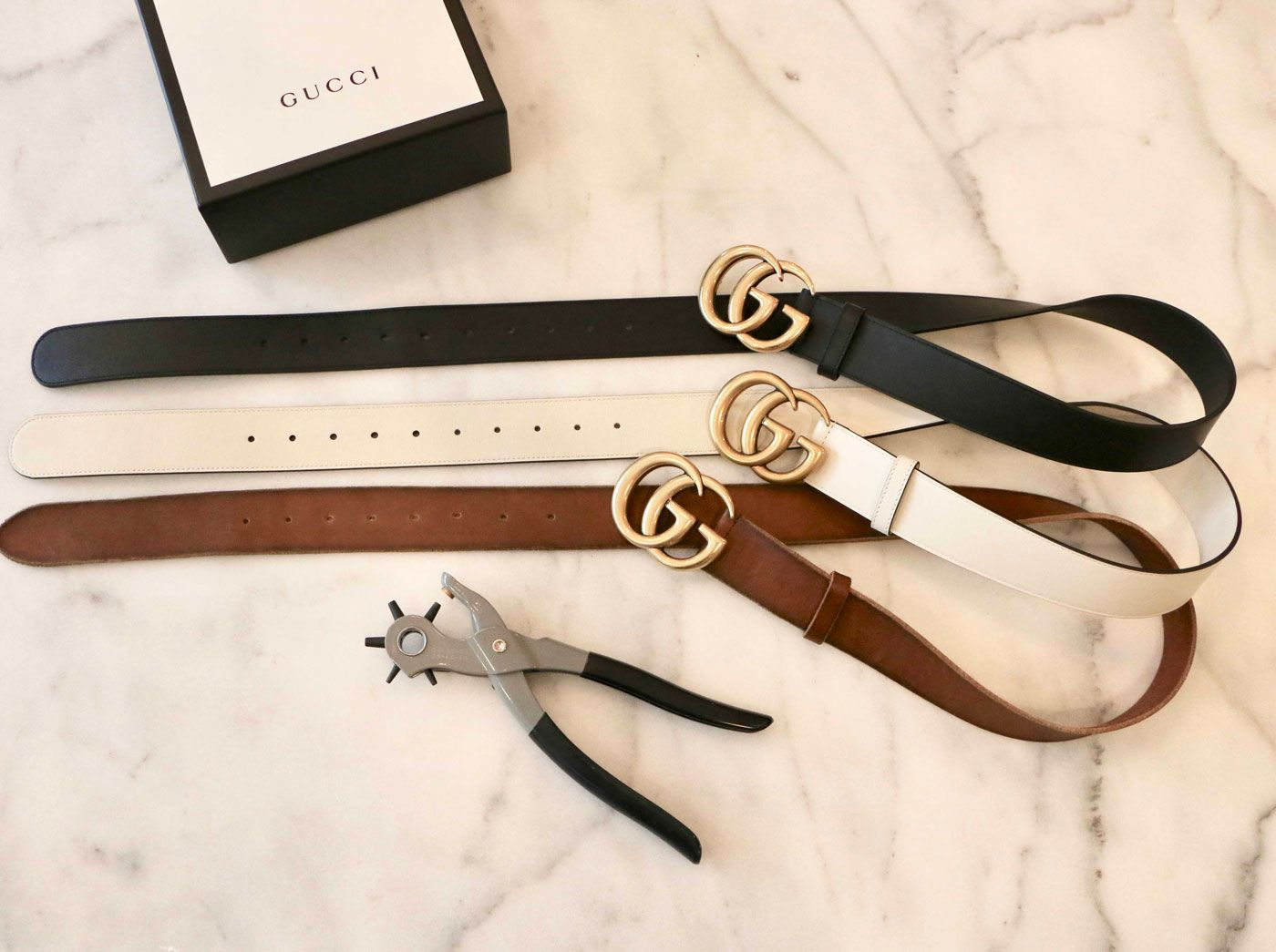 Gucci Marmont Belt Sizing And Adding Holes in 2020