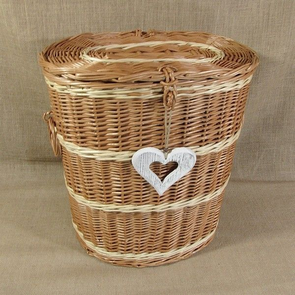 Wiklinowy Kosz Na Pranie Z Sercem Laundry Basket Wicker Laundry Basket Wicker