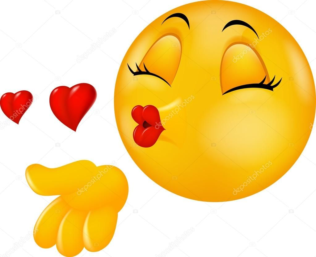 Descargar - Dibujos animados ronda besos emoticono cara haciendo ...