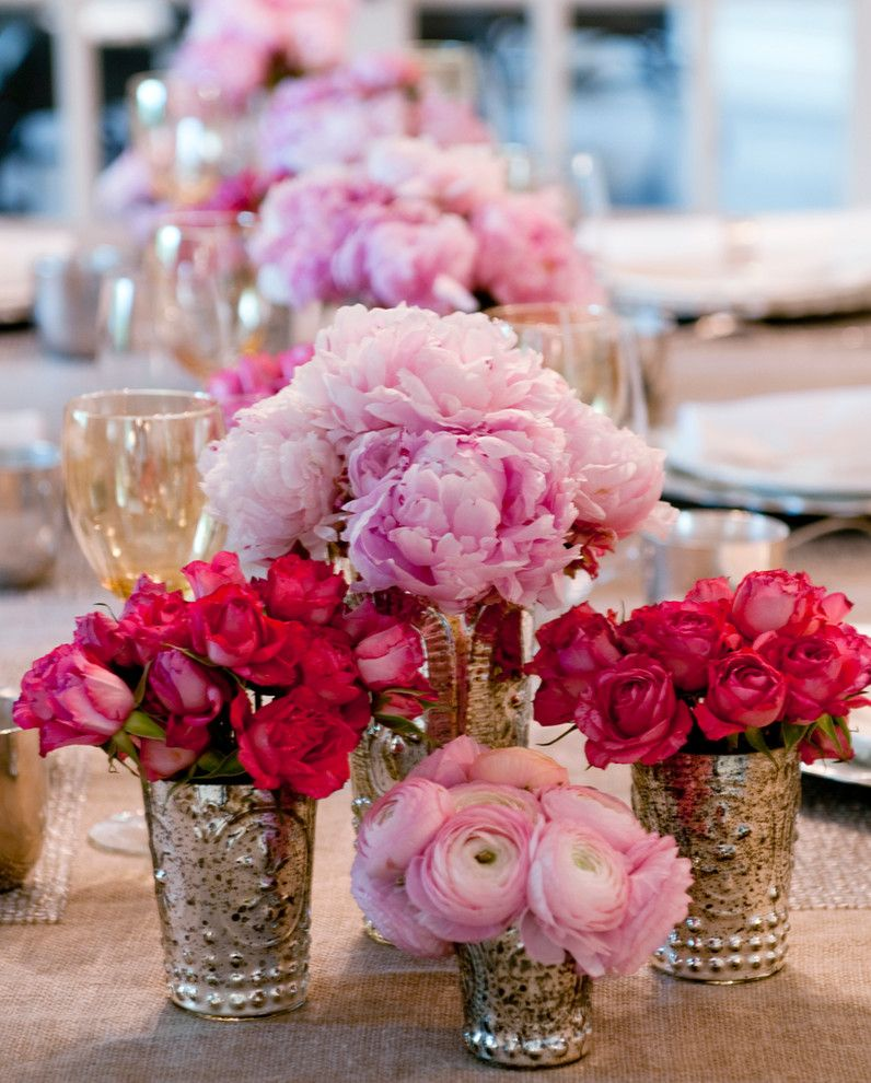 Superb Fake Flower Arrangements In Spaces Boston With Center Table