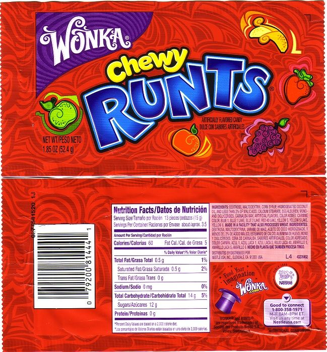 candy wrappers