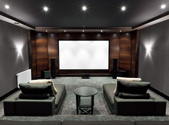 Home Theater With Lounge Couches Home Theater Room Design Home Cinema Room Home Theater Seating