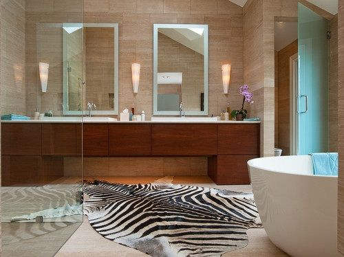 Genial African Safari Bathroom Curtain Ideas
