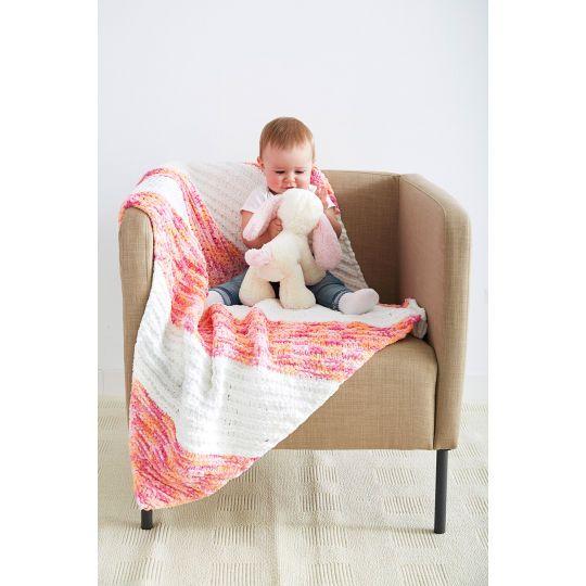 Bernat® Baby Blanket™ Kiddie Corner Knit Baby Blanket