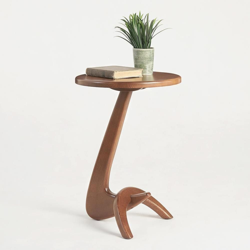 Max 33 Modern Solid Ash Wood Side Table