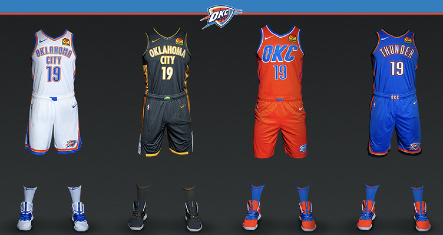 New Oklahoma City Thunder Uniforms Oklahoma city thunder