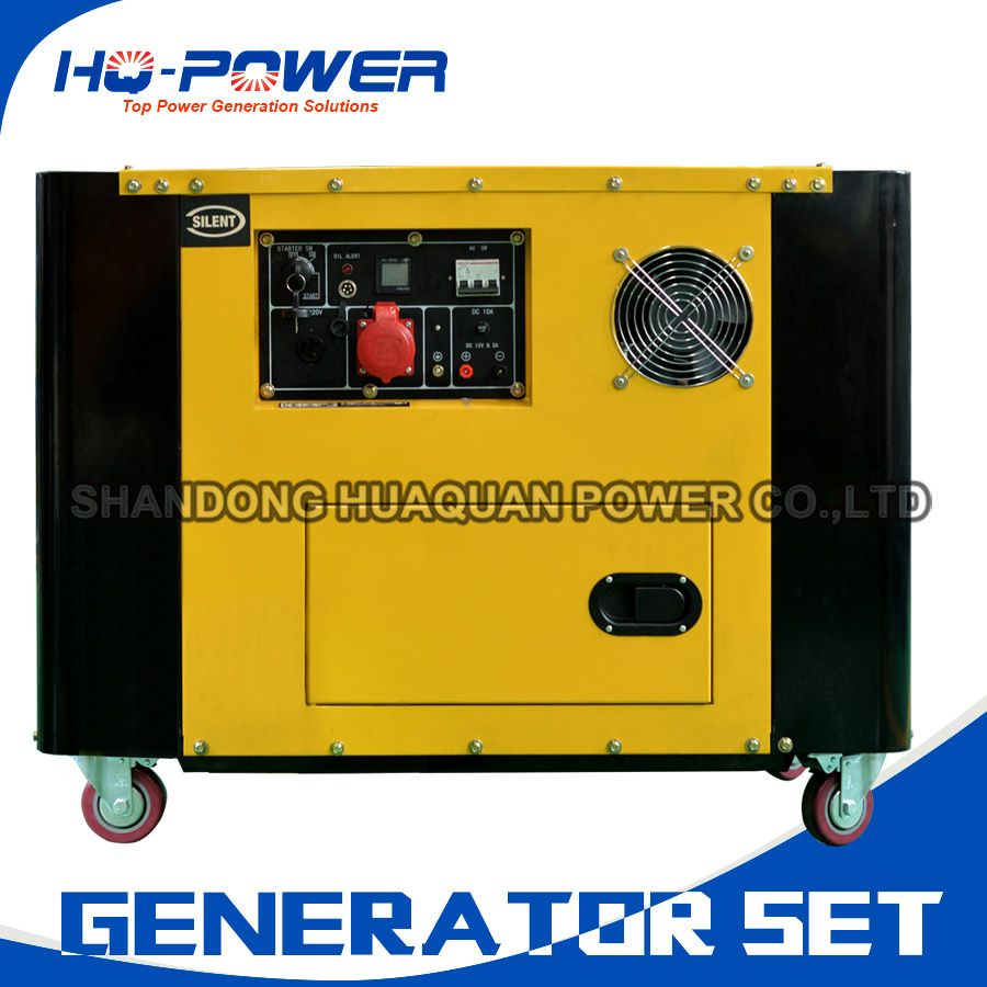 Dizel Generator 10kw With Silent Canopy For Home Camping Use Diesel Generators Locker Storage Diesel Engine