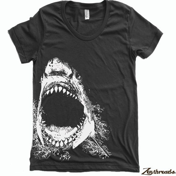Womens Printed Shirt Hand Colors Shark Available Tee T Screen rfqzr46w