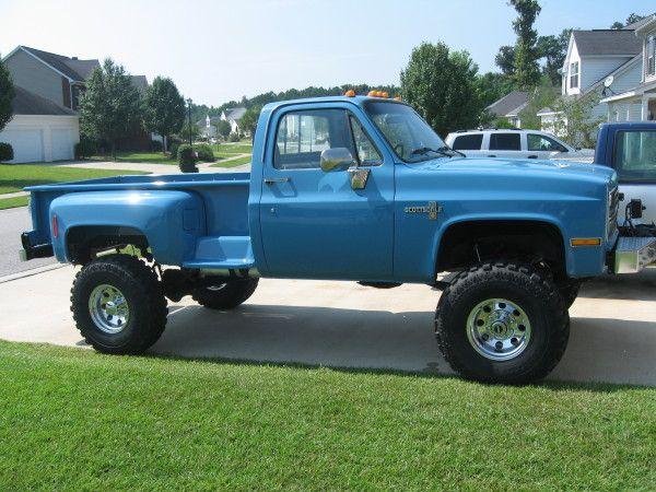 Lifted Chevy For Sale >> Lifted Chevy » Lifted Chevy Trucks » 87 v-30 long bed step side | pstroke | Pinterest | Lifted ...