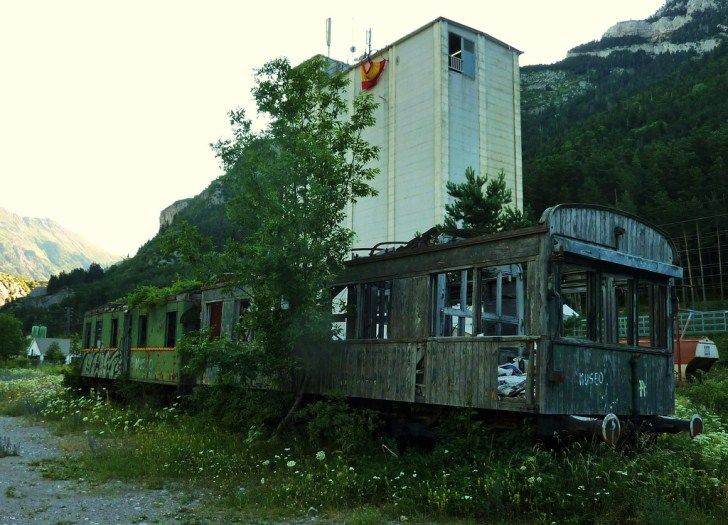 This Train was abandoned in Spain in the 1950's.