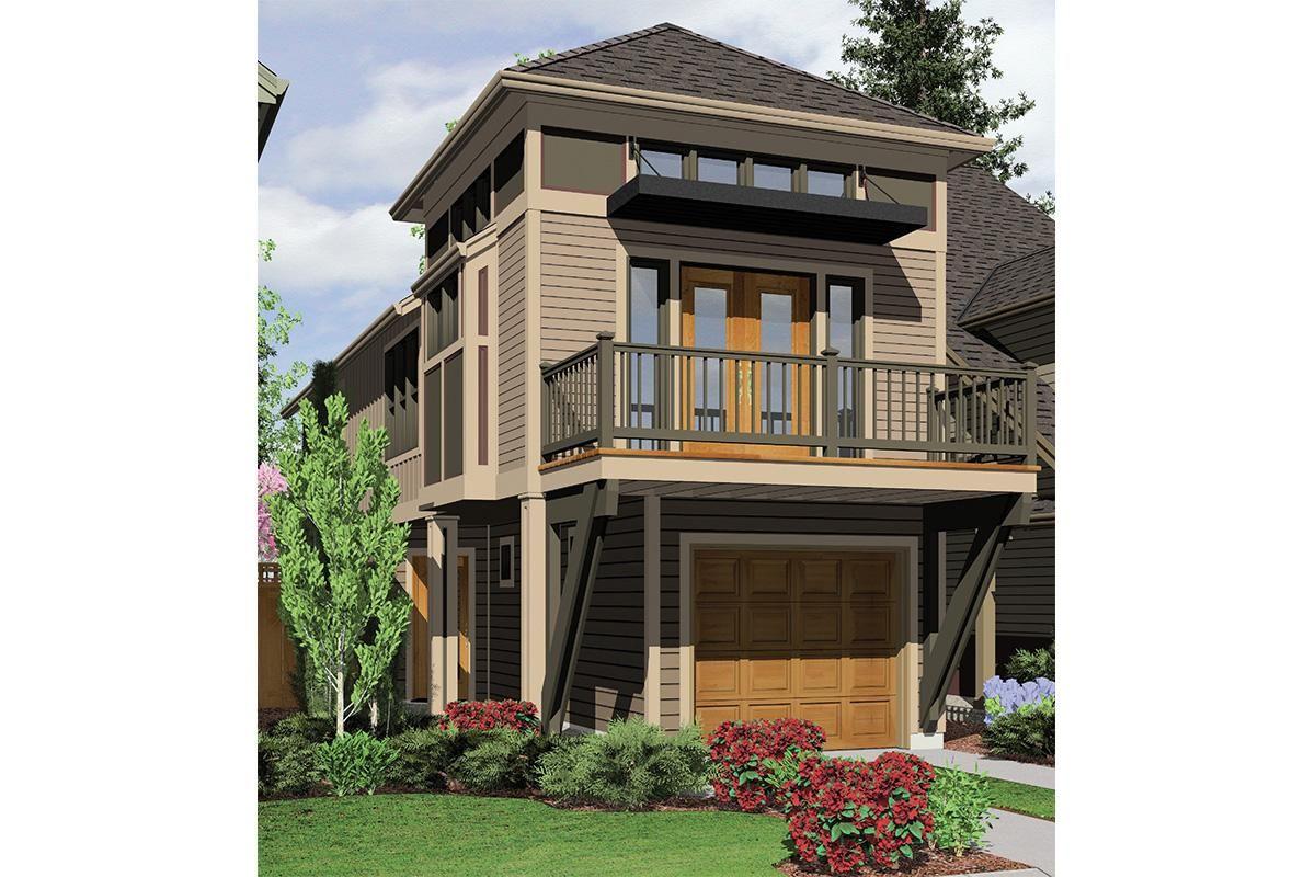 House Plan 2559 00204 Narrow Lot Plan 1 203 Square Feet 2 Bedrooms 2 Bathrooms Narrow Lot House Plans Narrow House Plans House Plans
